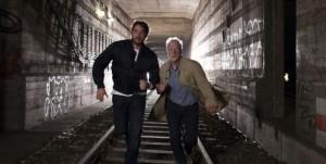 Georg Dengler (Ronald Zehrfeld) und Prof. Dr. Voss auf der Flucht, Copyright ZDF/J. v. Vietinghoff